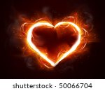 Abstract Fire Heart