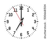 wall clock isolated on white... | Shutterstock . vector #500668504