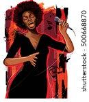 music jazz   afro american jazz ... | Shutterstock .eps vector #500668870