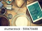 bakery baking cook eggs pastry... | Shutterstock . vector #500670688