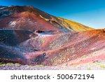 Landscape Of Etna Volcano ...
