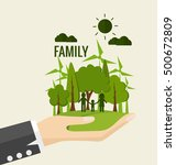 eco friendly. ecology concept... | Shutterstock .eps vector #500672809
