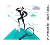 businessman searching for... | Shutterstock .eps vector #500673568