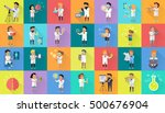 scientist character collection. ... | Shutterstock .eps vector #500676904