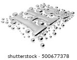 small shiny mercury  hg  metal... | Shutterstock . vector #500677378