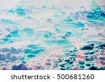 clouds triangulation background.... | Shutterstock . vector #500681260