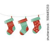 illustration of christmas socks....   Shutterstock .eps vector #500685253