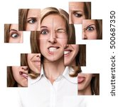 woman face collected from... | Shutterstock . vector #500687350