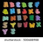 3d graffiti color fonts... | Shutterstock .eps vector #500688988
