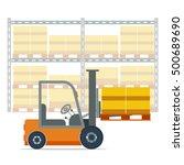 illustration of forklift... | Shutterstock . vector #500689690