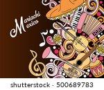 mariachi mexico colorful... | Shutterstock .eps vector #500689783