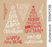 vector set of holidays... | Shutterstock .eps vector #500691538