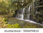 chisuji waterfall  near hakone. ... | Shutterstock . vector #500694814