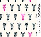 Zebra Heads Seamless Pattern ...