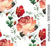 seamless pattern in russian... | Shutterstock .eps vector #500701000