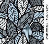vector pattern with leaves.... | Shutterstock .eps vector #500701390