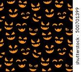 happy halloween seamless... | Shutterstock .eps vector #500701399