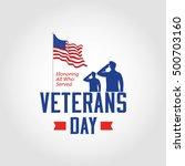 vector illustration of veterans ... | Shutterstock .eps vector #500703160