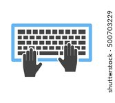 using keyboard | Shutterstock .eps vector #500703229