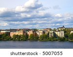 Stockholm skyline - stock photo