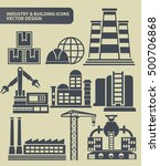 industry and building icon set... | Shutterstock .eps vector #500706868
