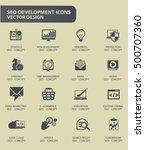 seo development icon set clean... | Shutterstock .eps vector #500707360