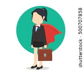 business woman with cloak  | Shutterstock .eps vector #500707858