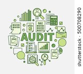 audit round illustration.... | Shutterstock .eps vector #500708290