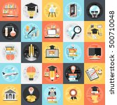 flat conceptual icons set... | Shutterstock .eps vector #500710048