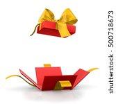 gift box for christmas  new... | Shutterstock . vector #500718673