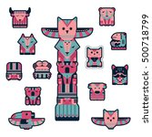 set of fashion patch badges... | Shutterstock .eps vector #500718799