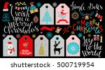 christmas icons  tags  patches  ... | Shutterstock .eps vector #500719954