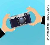 flat illustration of retro... | Shutterstock . vector #500721643