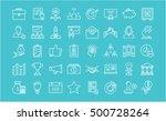 set vector line icons startup... | Shutterstock .eps vector #500728264