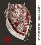 booth photo of keffiyeh  ... | Shutterstock .eps vector #500728354