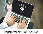 cloud technology concept | Shutterstock . vector #500728369