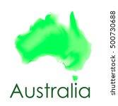watercolor map of australia in... | Shutterstock .eps vector #500730688