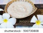 natural body care scrub closeup | Shutterstock . vector #500730808
