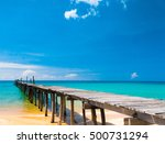 contemplating the sea path... | Shutterstock . vector #500731294