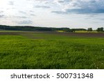 summer countryside landscape | Shutterstock . vector #500731348