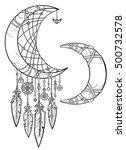 native american indian talisman ... | Shutterstock .eps vector #500732578