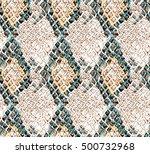 Seamless Snake Print Pattern ...