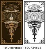 vintage card. baroque ornaments ... | Shutterstock .eps vector #500734516