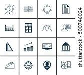 set of 16 universal editable... | Shutterstock .eps vector #500746024