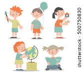 various learning and studying... | Shutterstock .eps vector #500750830