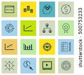 set of 16 universal editable... | Shutterstock .eps vector #500753233