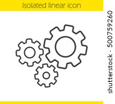 cogwheels linear icon. gears... | Shutterstock .eps vector #500759260