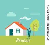 breeze gentle wind blowing on...   Shutterstock .eps vector #500759743
