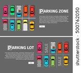 city parking vector web banner. ... | Shutterstock .eps vector #500762050