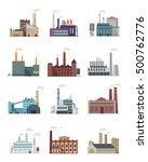 set of industry manufactory... | Shutterstock .eps vector #500762776